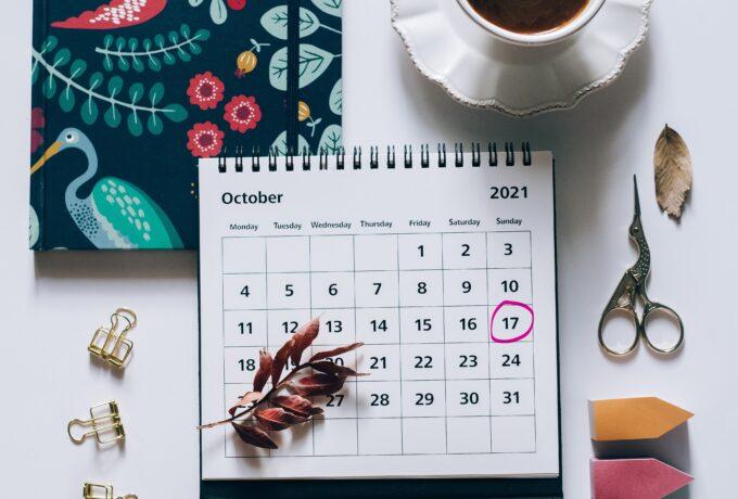 bench2biz calendar 17 october 2021